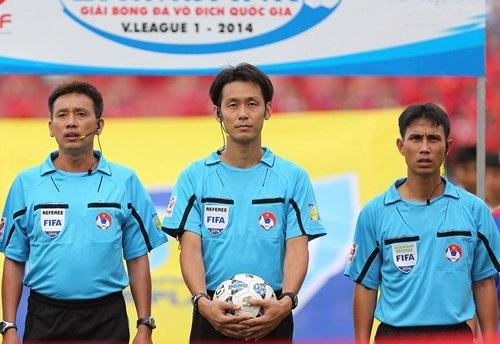 Ông từng cầm còi trong trận đấu giữa CLB Hà Nội và Thanh Hóa ở V-League 2014