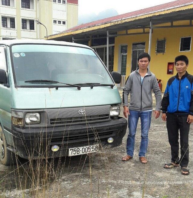 Chiếc xe cùng người gây ra vụ tai nạn rồi bỏ trốn. (Ảnh: CAQB)