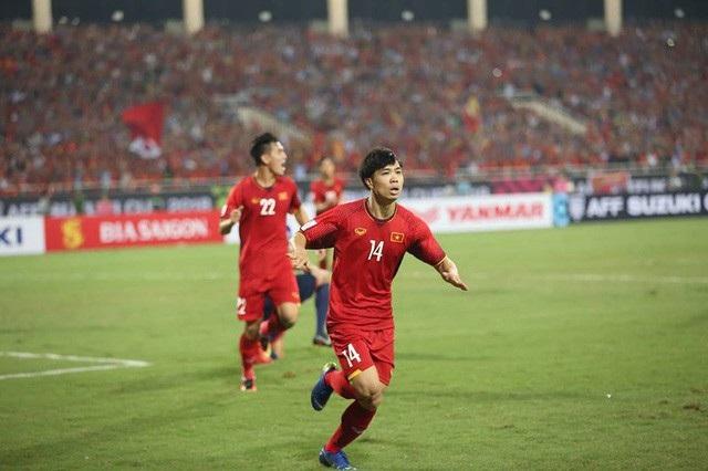 """HLV Park Hang-seo đã chia sẻ trước báo giới: """"Tôi ấn tượng nhất với khoảnh khắc Công Phượng ghi bàn""""."""