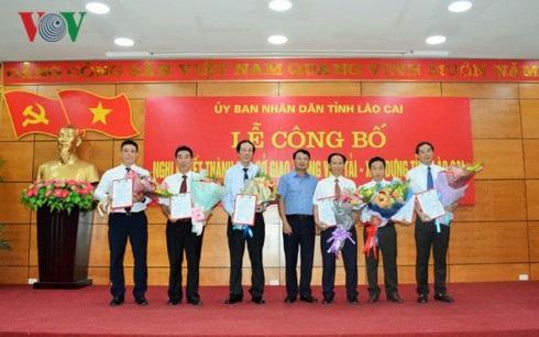 Ban Giám đốc Sở GTVT – Xây dựng Lào Cai sau khi hợp nhất