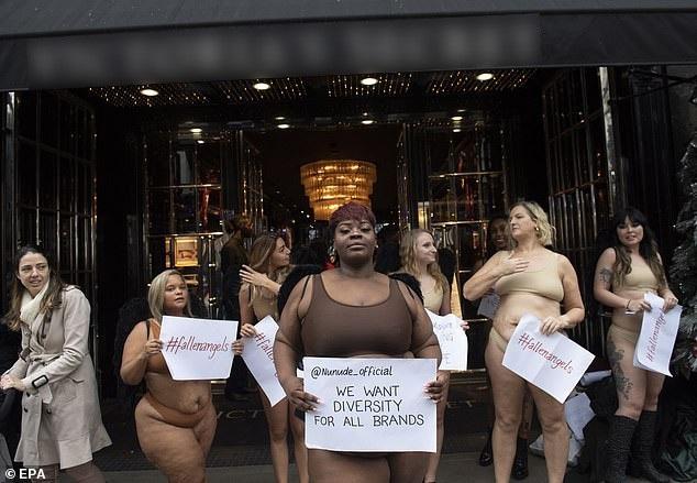 """Phụ nữ """"ngoại cỡ"""" xuất hiện trước cửa hiệu nội y đòi """"vẻ đẹp đa dạng"""" - 2"""