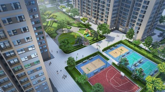 Tòa Park 06 nằm kế cận công viên nội khu có nhiều cây xanh, sân chơi trẻ em và sân tập thể thao đa dạng.