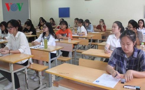 Học sinh tham dự kỳ thi THPT Quốc gia năm 2018.