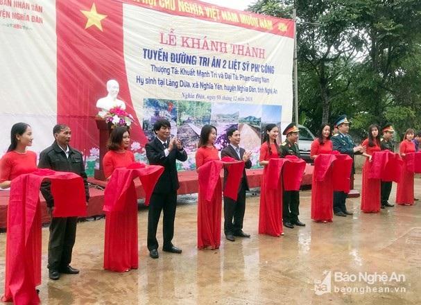 Sau hơn 4 tháng triển khai Con đường tri ân tại làng Dừa, xã Nghĩa Yên, Nghĩa Đàn đã hoàn thành.