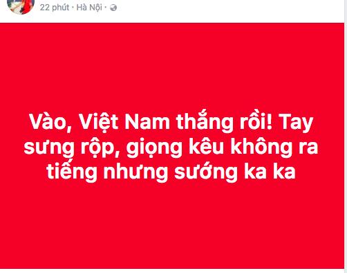"""U23 Việt Nam chiến thắng, mạng xã hội phủ kín lời chúc các """"anh hùng"""" - 9"""