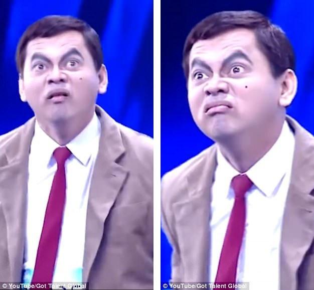 """Mongkol Preechajan (43 tuổi) đã gây sốt khi xuất hiện trong chương trình tìm kiếm tài năng """"Thailands Got Talent"""" với cách diễn xuất hài hước gần như giống hệt Mr Bean."""