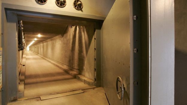 Hầm trú ẩn Greenbrier, nơi từng là cơ sở an toàn cho các nghị sĩ Mỹ trong kịch bản bị tấn công hạt nhân, nay trở thành địa điểm tham quan. (Ảnh: Getty)