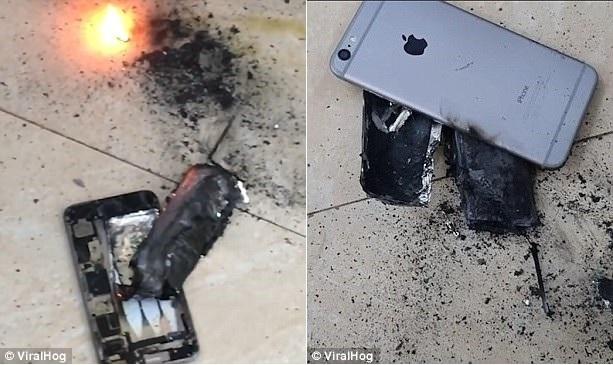 Hình ảnh chiếc iPhone sau vụ nổ.