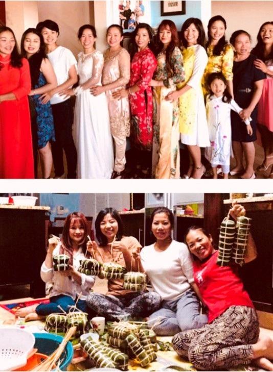 Các gia đình chị em Việt Nam tổ chức đón Tết tại Capetown (Ảnh: Kiều Phương)
