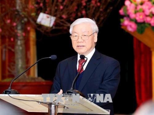 Tổng Bí thư Nguyễn Phú Trọng: Chung sức, đồng lòng, tiếp tục vững bước trên con đường đổi mới - 1