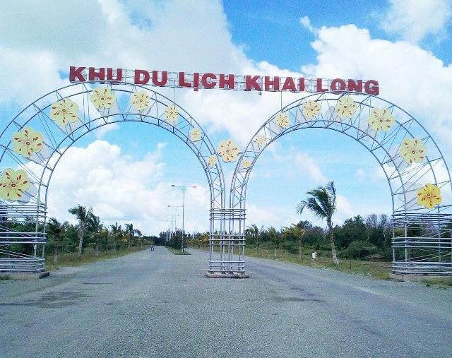 Cổng chào Khu du lịch Khai Long.