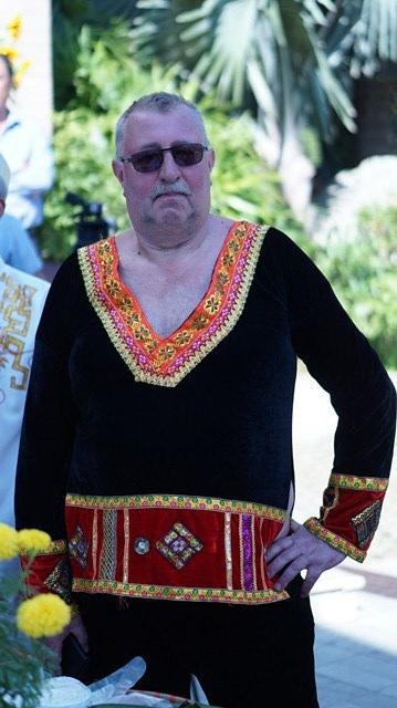 Du khách trong trang phục dân tộc miền núi