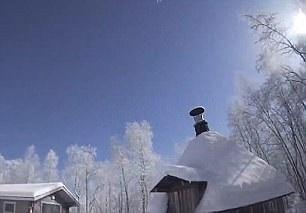 Lapland ban đêm... Ảnh: Daily Mail