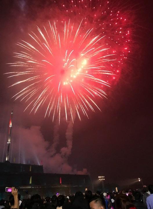 Người dân hào hứng thưởng thức pháo hoa mừng năm mới - 20