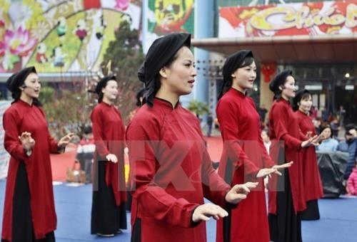 Hát Xoan của Việt Nam được UNESCO vinh danh là Di sản văn hóa phi vật thể đại diện của nhân loại (ảnh: TTXVN)