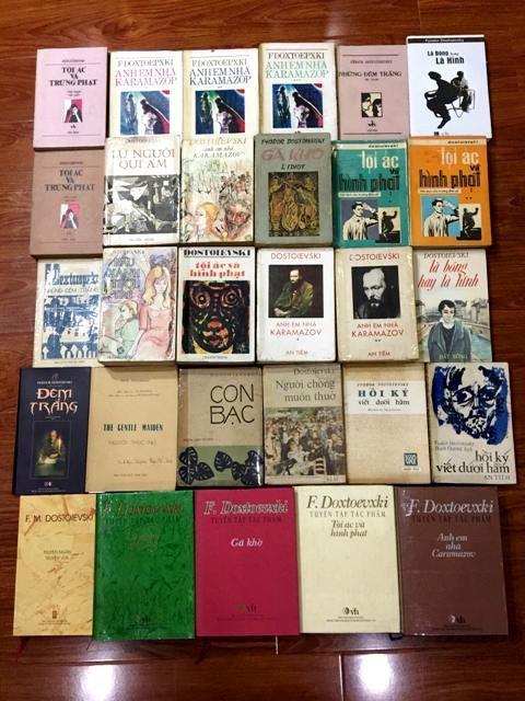Bộ sưu tập sách Dostoievski của một người chơi sách ở Hà Nội