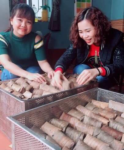 Mỗi ngày trung bình người làm bánh gai tại xã Thọ Diên sản xuất khoảng 80.000-90.000 cái bánh gai, con số này những tháng giáp tết có thể gấp 2-3 lần