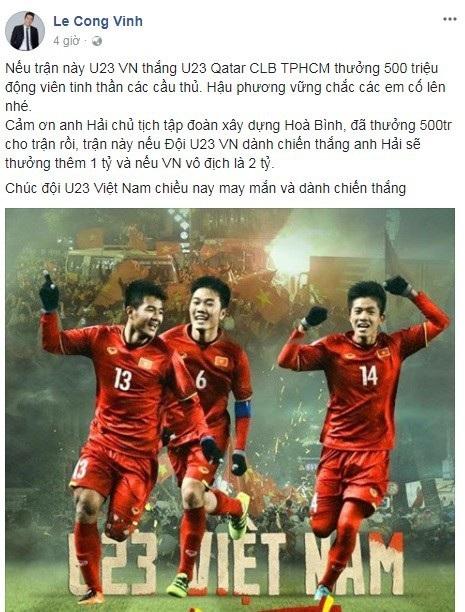 Các sao Việt hứa thưởng cho U23, đã có những ai thực hiện lời hứa? - 7