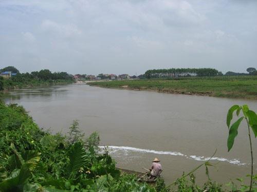 Sông Đáy đang bị ô nhiễm nặng. Ảnh: Hà Nội Mới