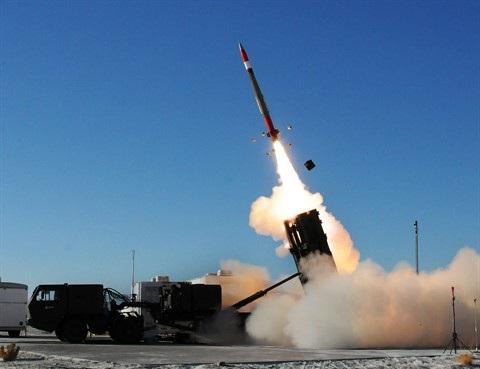 Tổ hợp MEADS phóng đạn đánh chặn MIM-104F tầm bắn 40 km trong một cuộc thử nghiệm