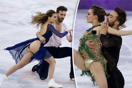 Gabriella Papadakis cũng đã mang đến Thế vận hội mùa đông những bộ trang phục biểu diễn hết sức táo bạo. Vừa nổi bật rực rỡ lại vừa khoe khéo các đường cong cơ thể, phần trình diễn của vận động viên người Pháp chắc chắn sẽ hoàn hảo hơn nhiều nếu Gabriella không bất ngờ bị tuột váy và để lộ nguyên vòng một trên sân băng.