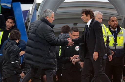 Mối quan hệ của Mourinho và Conte trở nên ấm hơn trước đại chiến giữa MU và Chelsea