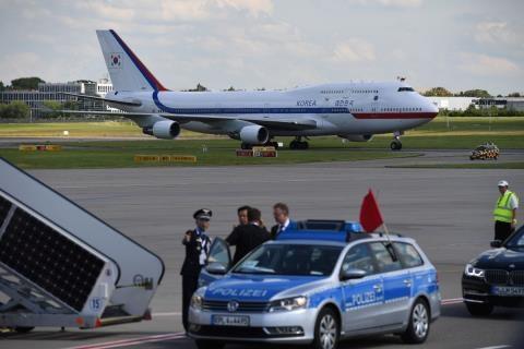 Chiếc Boeing 747 đang được thuê để làm chuyên cơ cho Tổng thống Hàn Quốc