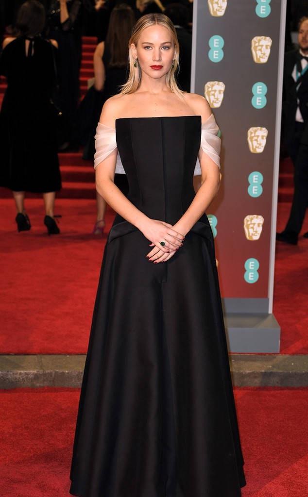 Jennifer Lawrence tại lễ trao giải điện ảnh BAFTA 2018 (Anh)
