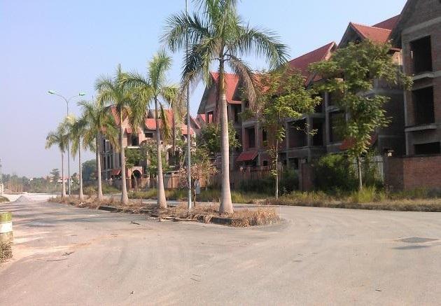Khu biệt thự xây thô tại dự án Quang Minh do Công ty cổ phần xây dựng Vinaconex số 2 thực hiện