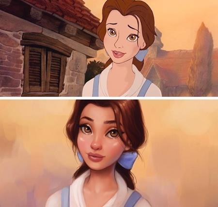 """Nàng Belle lúc nào cũng mang một dáng vẻ trong sáng, xinh đẹp, bất kể là trong bản phim """"Beauty and the Beast"""" (1991) hay là ở hiện tại"""