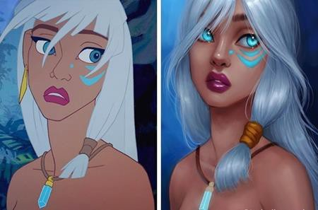 """Kida trong """"Atlantis: The lost empire"""" (2001) bỗng trở nên xinh đẹp hút hồn"""