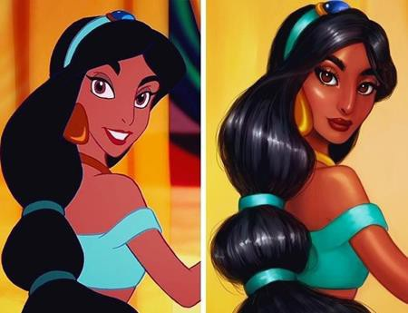 """Còn đây là công chúa Jasmine, nếu bộ phim """"Aladdin"""" ra mắt vào năm 2018"""