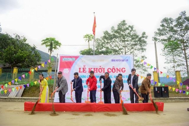 Khởi công công trình phòng học và nhà công vụ tại trường tiểu học và trường mầm non Nà Kiềng, xã Quảng Lâm, huyện Bảo Lâm, tỉnh Cao Bằng