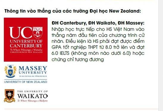 5/8 trường đại học công lập của New Zealand tuyển thẳng học sinh Việt Nam - 2