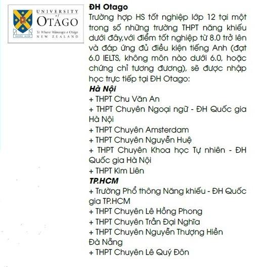 5/8 trường đại học công lập của New Zealand tuyển thẳng học sinh Việt Nam - 4