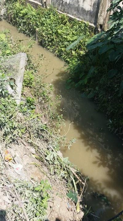 Rãnh nước nơi nạn nhân được phát hiện