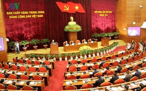 Toàn cảnh Hội nghị lần thứ 6 Ban Chấp hành Trung ương Đảng khóa VII.