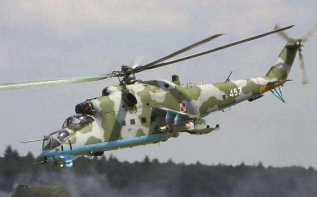 Một trực thăng Mi-25 (Ảnh: Sputnik)