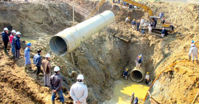 Đường ống nước Sông Đà 18 lần bị vỡ