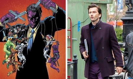 Killgrave trong truyện tranh có một lớp da màu tím rờn rợn và khi lên phim, nhà sản xuất đã quyết định chuyển sắc tím này vào bộ trang phục của Killgrave