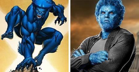 Beast trong phim thì được mặc nhiều quần áo hơn đôi chút và diện mạo trông cũng có vẻ bớt dữ tợn hơn