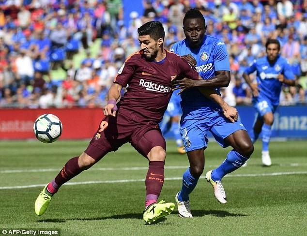 Luis Suarez luôn có duyên ghi bàn khi gặp Getafe