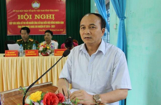 Chủ tịch UBND tỉnh Vĩnh Phúc Nguyễn Văn Trì.