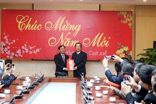 Lễ công bố quyết định bổ nhiệm Thứ trưởng Bộ Xây dựng với ông Nguyễn Văn Sinh tổ chức hôm qua, 8/2.