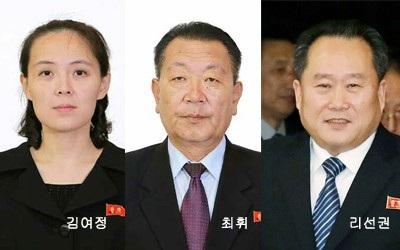 Ông Choe Hwi (giữa), Chủ tịch Ủy ban Hướng dẫn Thể thao Quốc gia Triều Tiên, là một trong các thành viên phái đoàn cấp cao Triều Tiên thăm Hàn Quốc. (Ảnh: Korea Times)
