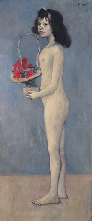 """Bức """"Cô gái và giỏ hoa"""" của Picasso có giá ước tính 70 triệu USD (tương đương 1.600 tỷ đồng)."""