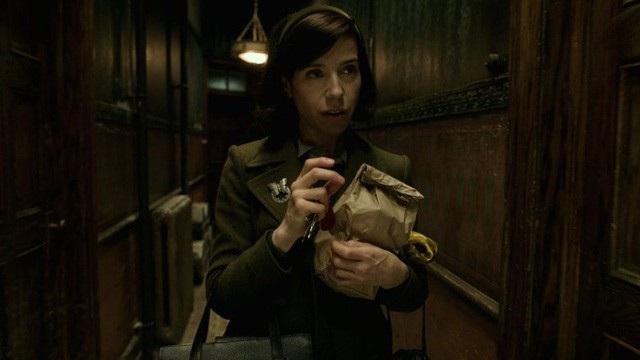 Nữ diễn viên người Anh Sally Hawkins vào vai nữ công nhân quét dọn vệ sinh bị câm, đem lòng yêu quái vật lưỡng cư.