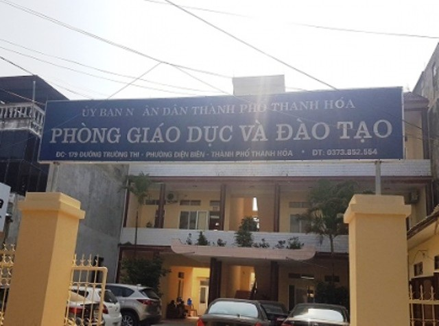 Phòng GD-ĐT TP Thanh Hóa nơi bà Lê Thị Hà làm việc.