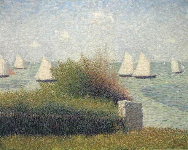 """Bức tranh khắc họa quang cảnh bến cảng """"La Rade De Grandcamp"""" của Seurat được dự đoán có giá vào khoảng 30 triệu USD (tương đương hơn 680 tỷ đồng)."""