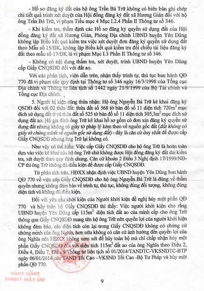 Bắc Giang: Tại sao Ủy ban huyện bị Tòa xử thua kiện một người dân? - 4